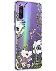 Oihxse Mandala Flores Encaje Patrón Serie Case Compatible con Motorola Moto G7 Power Funda TPU Silicona Suave Protector Ultra Slim Anti-Rasguño Transparente Carcasa (A16)
