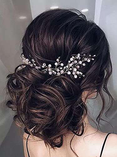 Vakkery Diadema de cristal de oro rosa para novia, accesorios para el cabello para mujeres y niñas