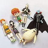 RGWSYTNIA Figura de Anime Estatua 6 unids/Set Hotel Transilvania Drácula Mavis Johnny Dennis PVC Figura de Acción Juguetes muñeca Regalos de Anime