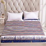 NHhuai Sábana Ajustable súper Suave, cálida y acogedora Protector de colchón de una Pieza de algodón Aloe