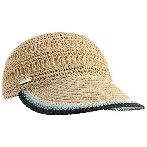Seeberger Gorra Rollable Crochet de Paja Visera (Talla única - Negro)