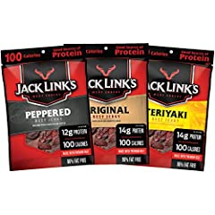 GOOD SOURCE OF PROTEIN – Keeping your diet packed full of protein keeps you satisfied and energized all day long, and it's never been easier to get protein than with Jack Link's Beef Jerky Variety Pack! This pack features 15 bags of 1.25 oz. of beef ...