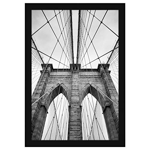 Americanflat 20x30 Poster Frame in Black with Polished Plexiglass-Horizontal and Vertical Formats with Included Hanging Hardware