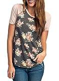 CEASIKERY Women's Blouse 3/4 Sleeve Floral Print...