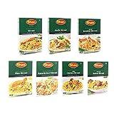 Shan Assorted Biryani 7 Packs Set - ビリヤニ 食べ比べ 7種類セット - オリジナル、ボンベイ、シンディ、マライチキン、マトン、カラチ、ピラフ ビリヤニ - 7箱セット 調合済み 香辛料 スパイス レシピ付き 50~60gx7(辛口)