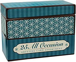 Paper Magic Handmade and Embellished All Occasion Greeting Cards with Blue Keepsake Box, 25pc