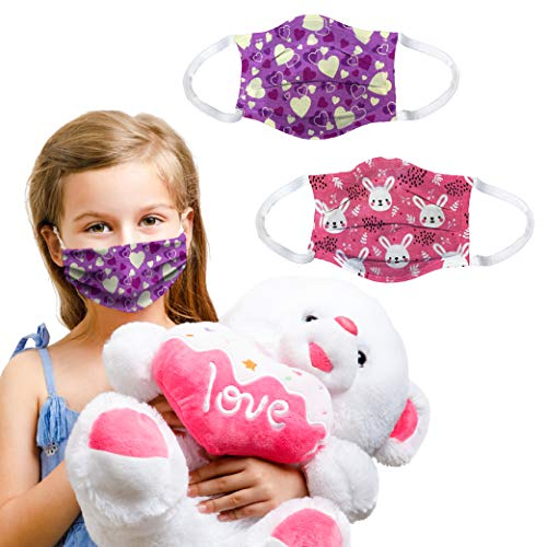 Kids face mask |100% Cotton Comfortable Easy Breathing |2 pcs Set for Children...