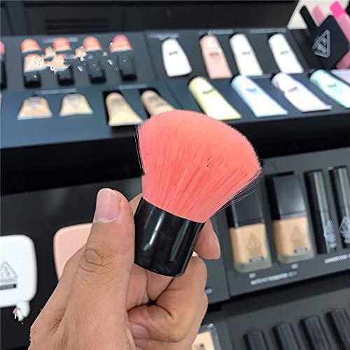 CGQMini Make-up Pinsel Tragbare Puderpinsel Kunsthaar Rundkopf Pilzbürste Blush Brush, Schwarz