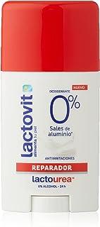 Lactovit - Desodorante Extra Eficaz 0% en Stick LactoUrea, sin Sales de Alumino, 0% Alcohol, Anti-Irritaciones y 48H de Ef...
