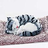 CDwxqBB Decoración Linda del Coche del Perro, con función de purificación de Aire de carbón Activado, decoración del Dormitorio, Regalo de artesanía de decoración Artificial,Grey Cat,28x20cm