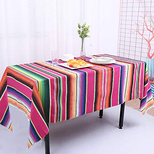 Zdada Designs mexikanischen SARAPE Decke 145x180cm Colorful Outdoor Baumwolle Reise SARAPE Decke mexikanischen Stripe Red Mexican