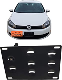 JGR Racing Car No drill Tow Eye Front Bumper Tow Hole Hook License Plate Mount Bracket Holder Adapter Relocation Kit For VW EOS MK5 MK6 GTi Golf Audi TT