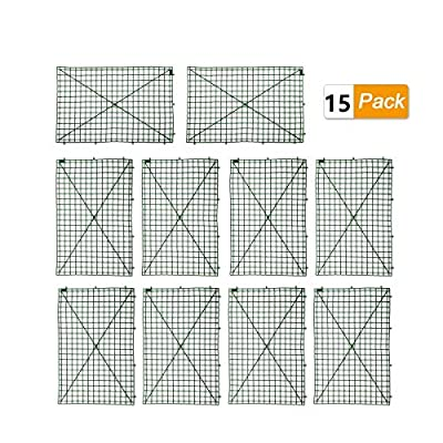 WOOPOWER Grid Plant Wall Frames, 15-Pack Plastic Frame for Flowers and Plants Wall Arches Backdrop, DIY Decorative Fences Panel Wall Display for Artificial Flowers Plant Base (15-Pack)