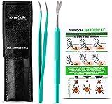 HomeSake Tick Remover Tool and Tweezer Set...