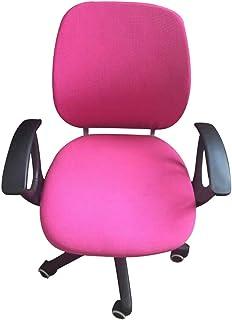 Fundas universales para silla de escritorio de computadora, funda extraíble y resistente para silla giratoria de oficina, silla giratoria de computadora, silla de ordenador, reposabrazos (fucsia)