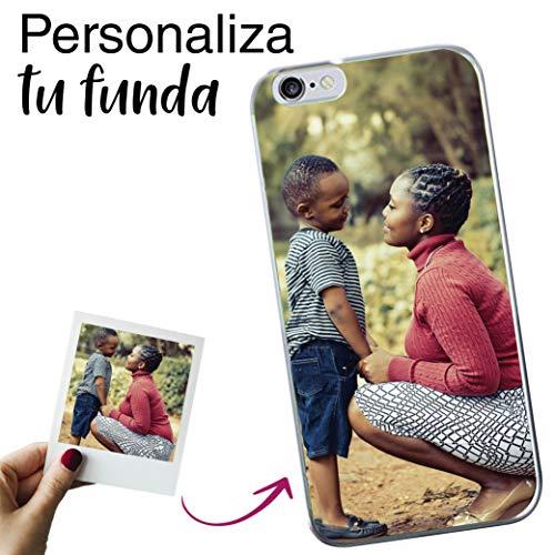 Mookase Funda para iPhone 6 Plus / 6s Plus Personalizada para TU MÓVIL con Imagen O Texto, Carcasa Personalizable, Gel Flexible, Borde Trasparente, Regalo Original