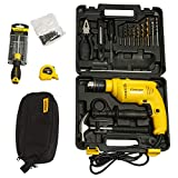 STANLEY SDH600KV 13mm 600Watt Hammer Drill and Hand Tools Kit for Home, DIY and Professional use - 111pc in 2 Boxes