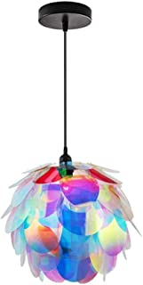 Modern Chandeliers Ceiling Lights Pendant DIY Artichoke Pine Cone Shape Puzzle Lampshade & pp Pendant Lamp Suspension Ceiling Pendant Chandelier Light 3C ce Fcc Rohs for Living Room Bedroom, Katylen