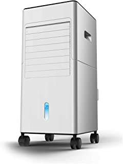Qi Kang Evaporativo Portátil, Refrigeración 3 en 1 Portatil Climatizador 1-12h Temporizadores Aire Acondicionado Ventilador de Pie (5L) con 3 Velocidades-001 Estilo de Control Remoto