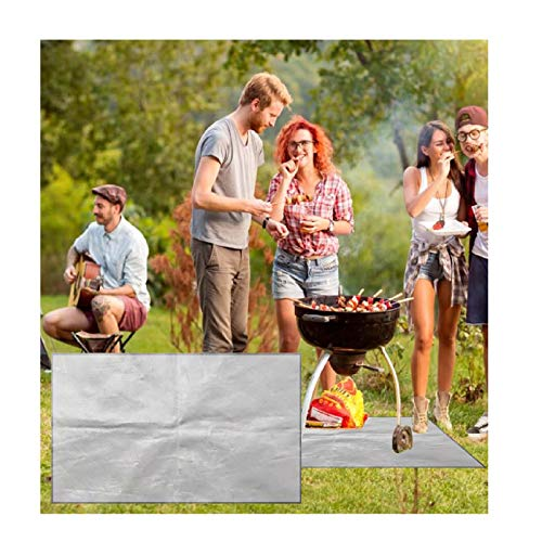 XIANBAO Portable Rectangular Fire Pit Mat & Grill Mat Deck Protector,Fireproof Mat for Outdoor Patio, Fire Pit Fire Resistant Protective Floor to Protect Wood Decking,Porch,Floor Lawn (50cmx100cm)
