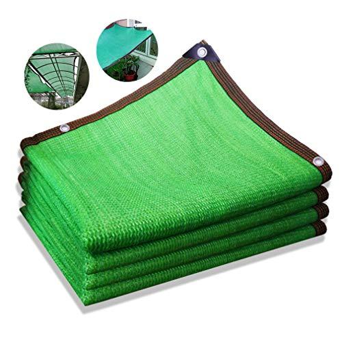 NIANXINN Malla Sombreadora Ocultación 85% Verde,Malla de Sombra de Bloqueador Solar de Engrosamiento Cifrado de 6 Pines,Resistente a los Rayos UV,para Vallas Balcón Jardín Piscina (4x5m(13 * 16ft))