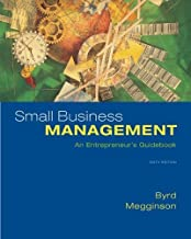 Small Business Management: An Entrepreneur's Guidebook by Mary Jane Byrd (2008-09-08)