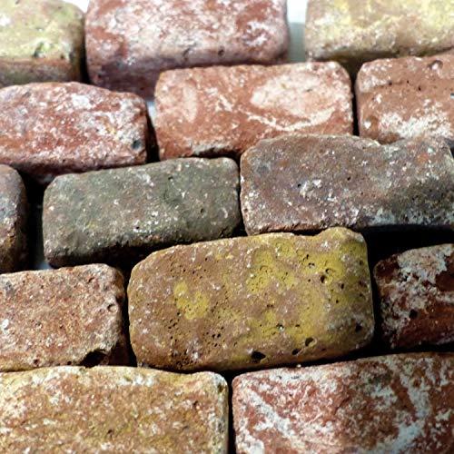 Bausteine – Ziegelrot – Inhalt: 80 Stück – Made IN Germany – Für den BAU Ihrer WEIHNACHTSKRIPPE geeignet (z.B. für realistische Mauern etc.) – Unterschiedliche Strukturen – C337440