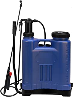 Flesser Backpack Sprayer Knapsack Manual Sprayer 5 Gallon,No Leak and Heavy Duty Suitable for Agricultural Gardening Use (5 Gallon, Blue)