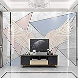 HJLXDP Murales de pared para sala de estar 3dAutoadhesivos de vinilo geométrico con alas doradas, murales de pared desmontables, adhesivos adhesivos para pared para sala de estar, dormitorio, pasillo