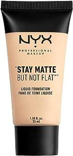 NYX PROFESSIONAL MAKEUP Stay Matte but not Flat Liquid Foundation, Alabaster, 1.18 Fl Oz