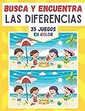 Busca y encuentra las diferencias: 35 coloridos juegos de diferencias con las soluciones en este libro de juegos para niños desde 5 años