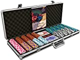 [page_title]-Bullets Playing Cards - Großer Pokerkoffer Deluxe Pokerset mit 500 Clay Pokerchips Carmela, Poker-Anleitung, Dealer Button und Bullets Plastik Pokerkarten