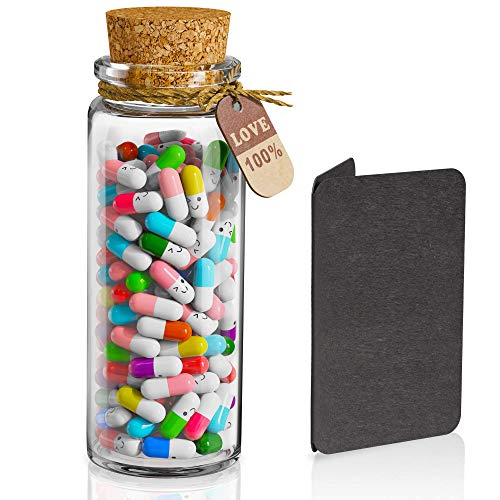 Capsule Letters Message in Bottle Glass - Love Capsule Pills - Great for Friends Lovers Family...