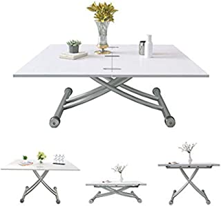 Jeffordoutlet Table Basse Pliable Multifonction rectangulaire réglable et Extensible Table de Salle à Manger Bureau d'ordi...