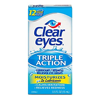 Clear Eyes | Triple Action Lubricant / Redness Relief Eye Drops | 0.5 FL OZ