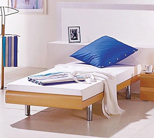 HASENA Einzelbett Gästebett Kinderbett Econom Buche Dekor Füße chrom 90x200