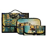 Neceser para Hombre Increíble Venecia Obra de Arte Estilo Pintura Neceser para niñas Neceser Lavable y Plegable para Mujer Colgante Adecuado para Viajes, Deportes y Fitness, hoteles Familiares, Maqui