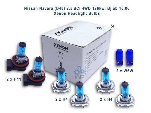 Nissan Navara (D40) 2,5 dCi 4WD 126kw, Bj ab 10,06 per fari allo xeno lampadine H11, H4, H4, W5W