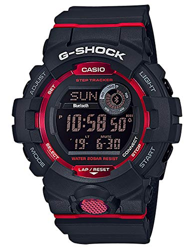 Casio G-Shock Men's GBD800-1 Bluetooth G-Squad Digital Watch, Black/Red (BLKRED/1), One Size