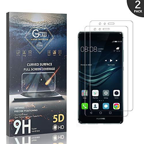Generic Schutzfolie Kompatibel mit Huawei P9, LAFCH Hohe-Auflösung Kratzfest Folie Panzerglas Displayschutzfolie für Huawei P9, 2 Stück