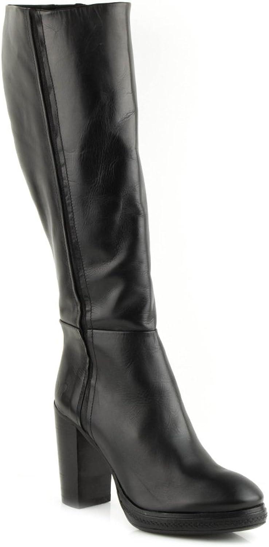 Felmini Damen Damen Damen Schuhe - Verlieben Edit 9805 - Hochhackige Hohe Stiefel - Echte Leder - Schwarz  ef97c0