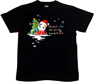 [GENJU] Tシャツ クリスマス メンズ キッズ 子供服 サンタクロース プレゼント 猫 ネコ 可愛いにくきゅう 雪の結晶 メンズ キッズ