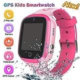 GPS Uhr Telefon,Kinder Smart Watch,GPS Smartphone für Jungen Mädchen - Uhr mit SOS Voice Anruf Sprachnachricht SOS Taschenlampe Digital Kamera Armbanduhr Geschenk für die Schule (Pink)