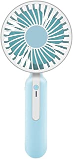 SHANGRUIYUAN-Mini Fan Mini Portable Multifunction Fan 1200mAh USB Rechargeable 3 Speed Strong Wind Handheld Stand Table Cooling Fan Home Office (Color : Blue, Size : with Base)