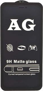 شاشة حماية 9 اتش من AG زجاج ازرق منحني مضاد للخدش للهاتف الخلوى ابل ايفون اكس ار 6.1 انش - اسود