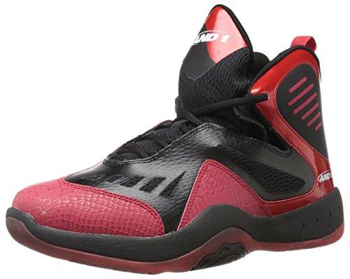 AND1 Herren Alpha Basketballschuh, Rot (Rot/Schwarz/Weiß), 39.5 EU