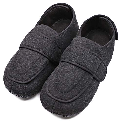 MEJORMEN Mens Diabetic Shoes Edema Slippers Adjustable Strap Comfortable Boot Extra Wide Orthopaedic...