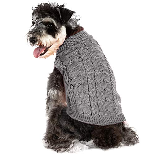 Yunnyp Haustier Stricken Strickpullover Hund Pullover Jacke Welpenkleidung Weiche Pullover Strickwaren