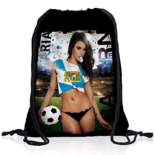 style3 Bayern Soccer Girl Rucksack Turnbeutel Tasche Fußball Trikot München Oktoberfest Germany