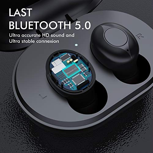 Wireless Earbuds, Comeproof Bluetooth Earbuds Deep Bass HiFi Stereo Sound 24H Playtime Bluetooth Headphones in Ear with Charging Case and Built in Mic for Sports Running. 7